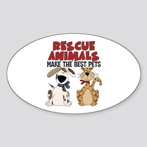 Rescue Animals Oval Sticker